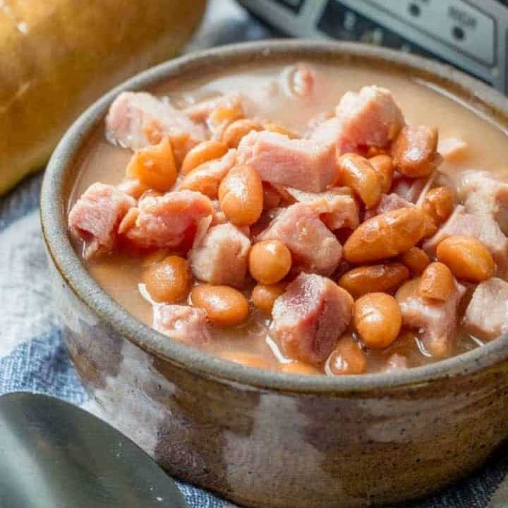 Slow Cooker Soup Beans and Ham recipe