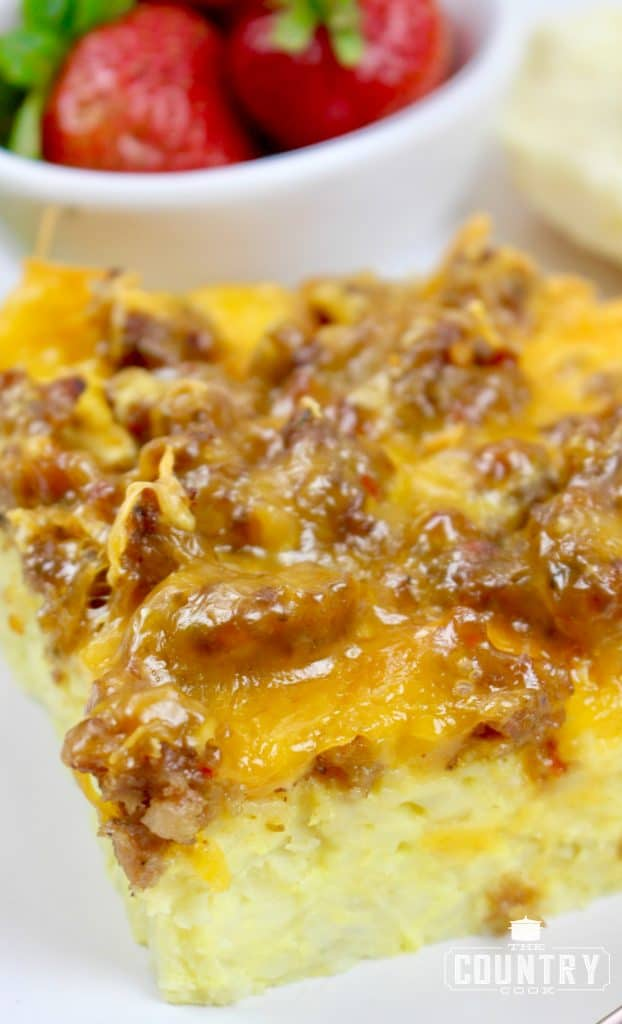 Breakfast casserole (can be made and frozen)