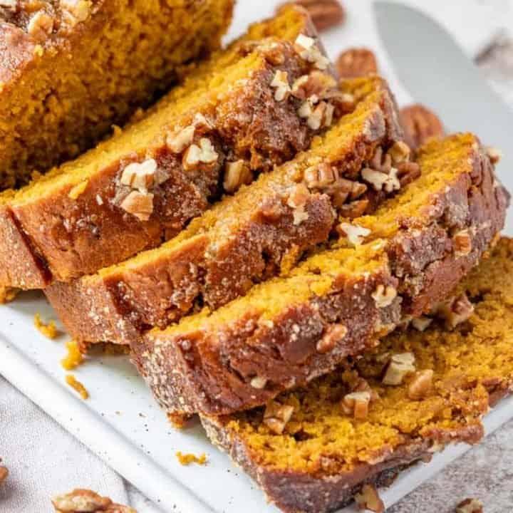 Pumpkin Bread with Brown Sugar Glaze