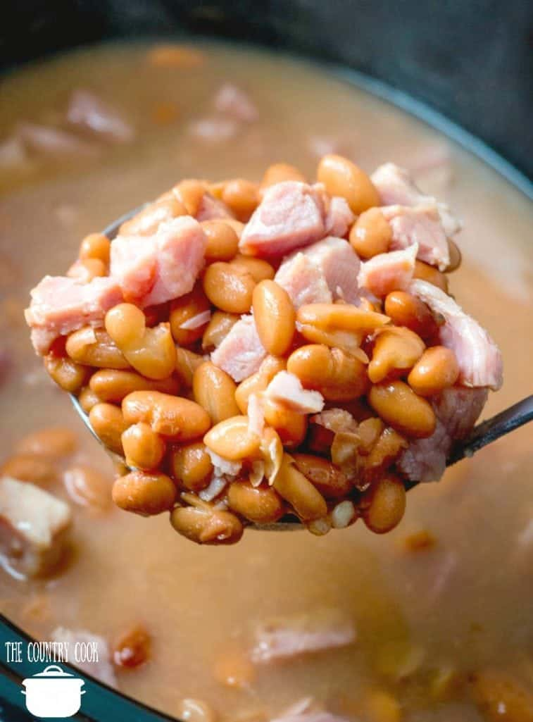 Slow Cooker Soup Beans And Ham The Country Cook Slow Cooker