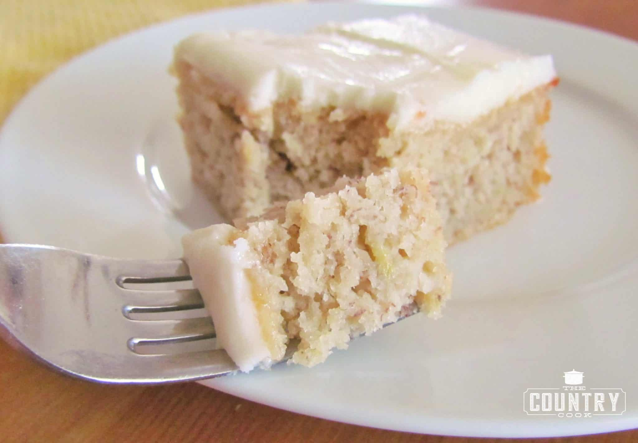 Banana Cake With Sour Cream And Cream Cheese Frosting