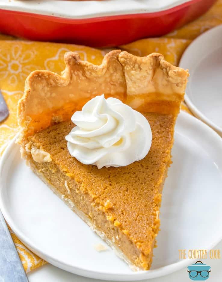 slice, Brown Sugar Pumpkin Pie
