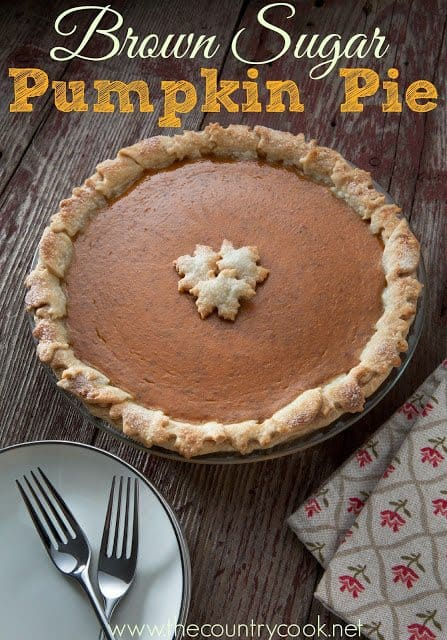 Brown Sugar Pumpkin Pie recipe from The Country Cook