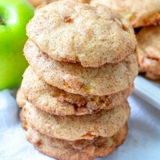 Apple Cinnamon Snickerdoodle Cookies