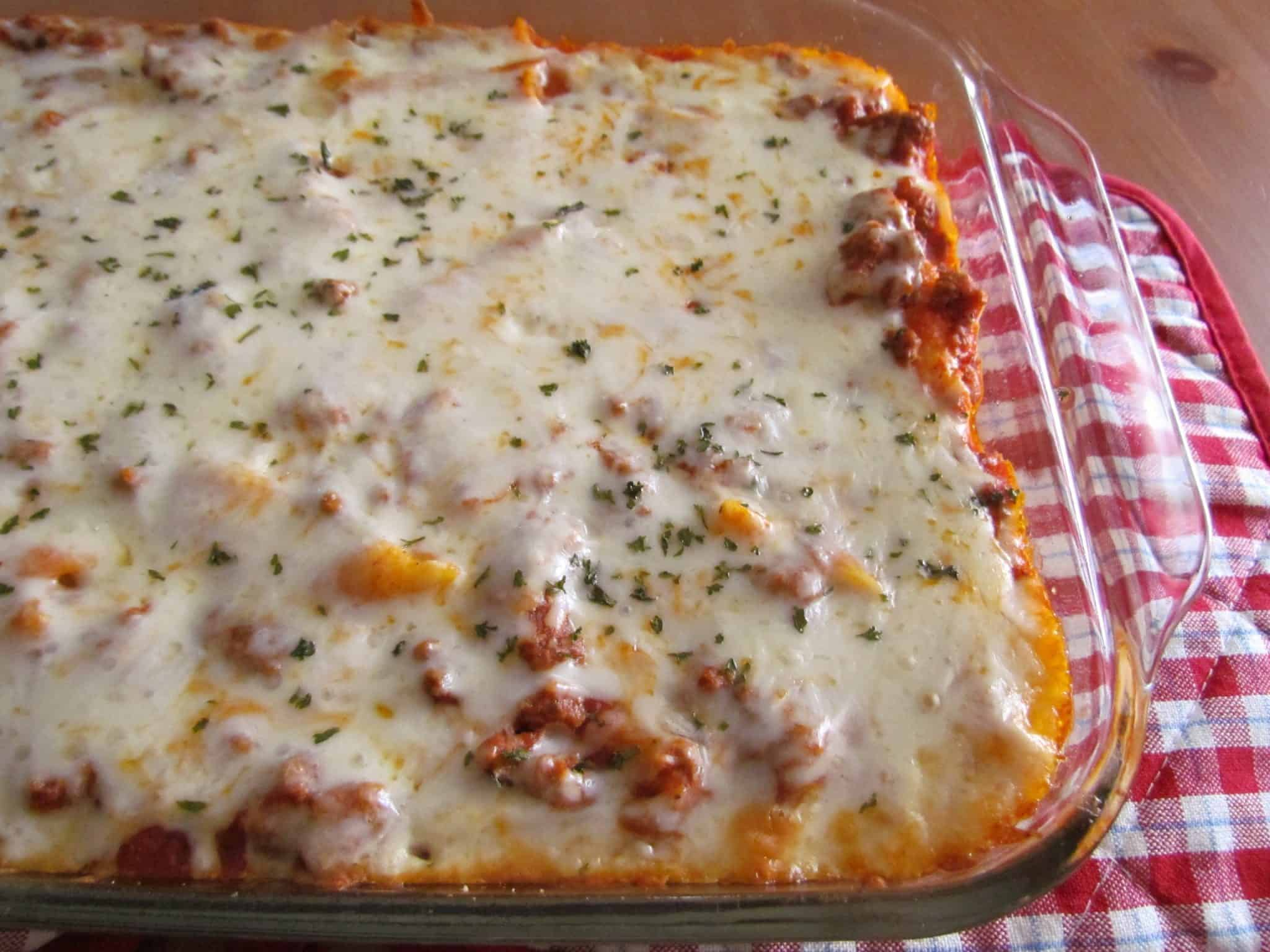 Baked Ziti {5 Ingredient and Freezable}