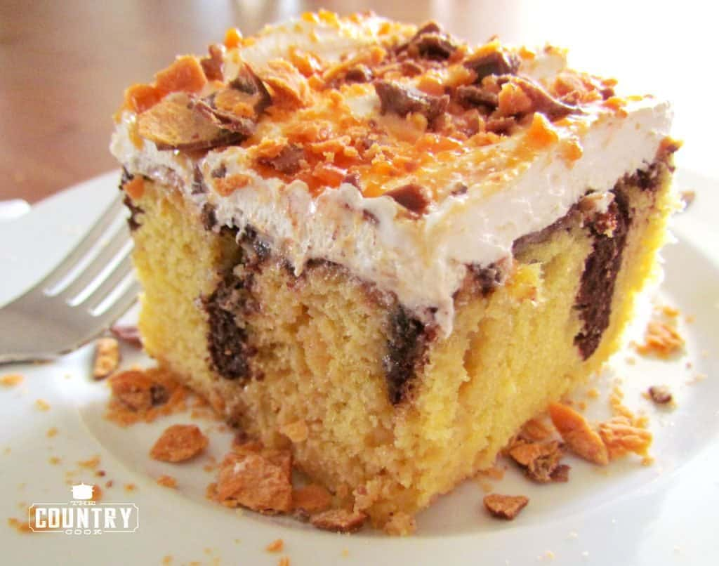 Cake Recipes Cooked In Microwave: Butterfinger Cake