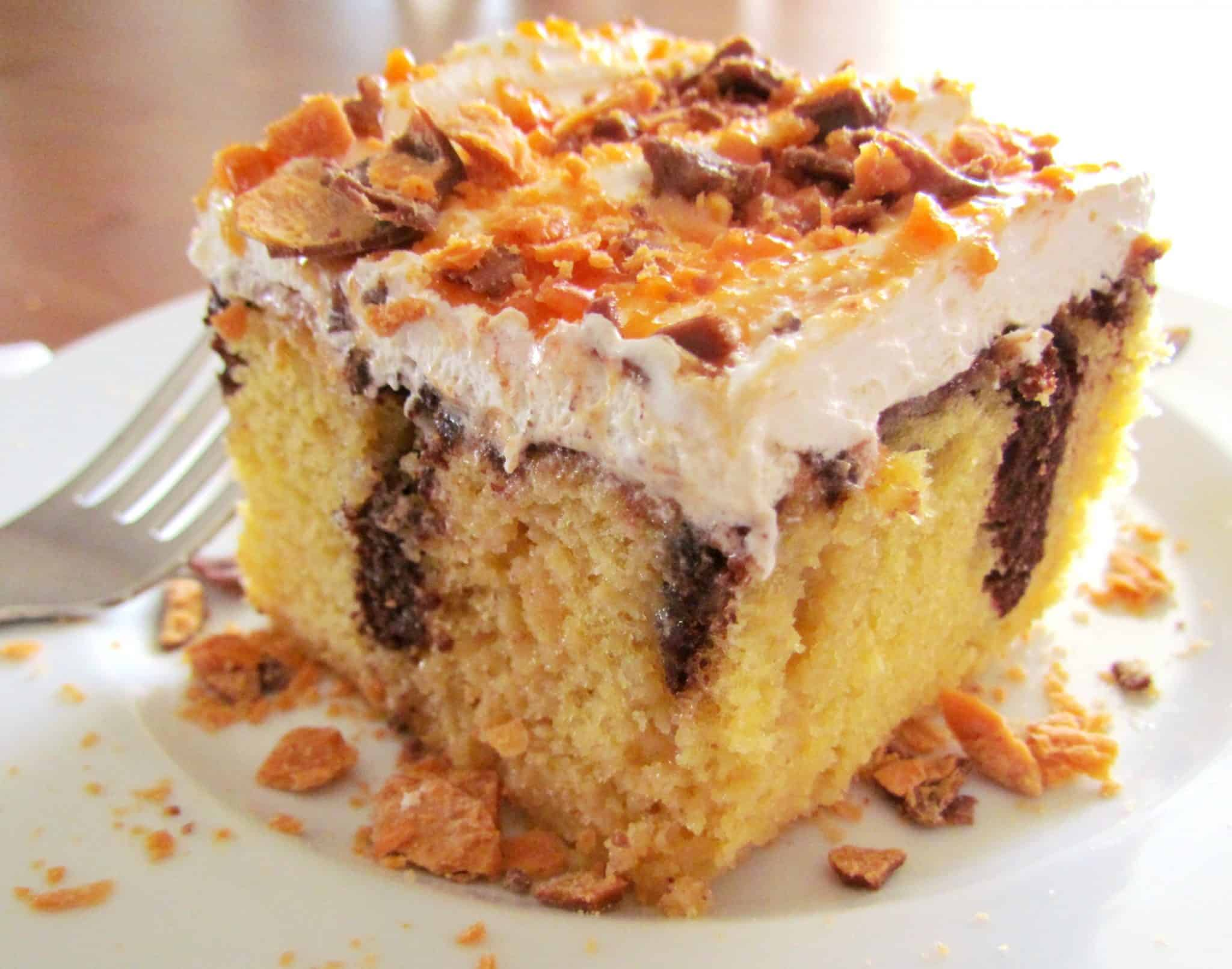 Marble Cake Recipes In Microwave: Butterfinger Cake