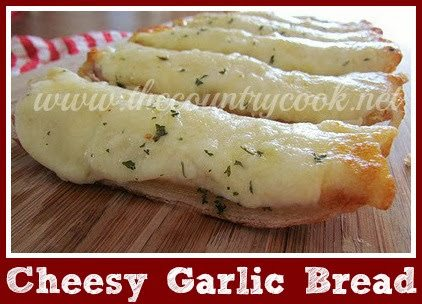 Cheesy Garlic Bread - The Country Cook