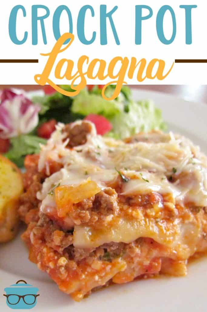 Crock Pot Lasagna recipe from The Country Cook