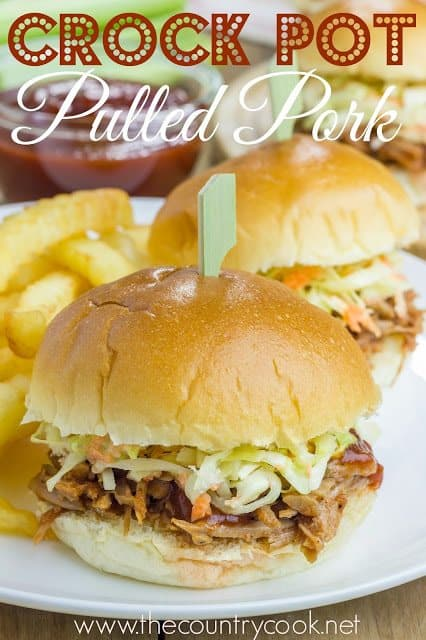 Crock Pot Pulled Pork recipe from The Country Cook