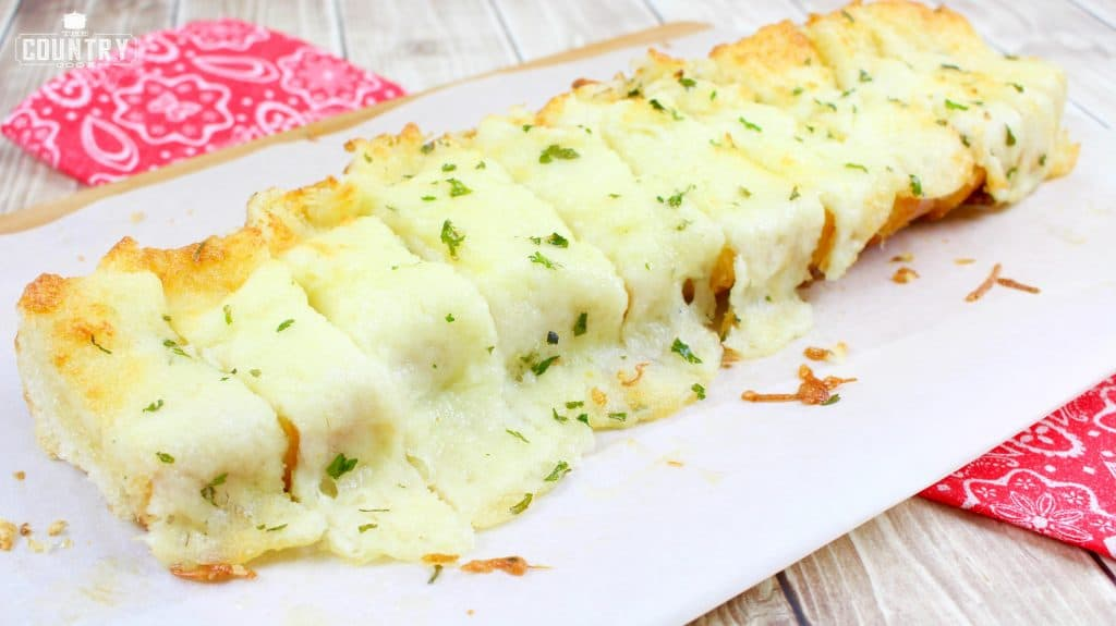 Sliced Garlic Bread with Cheese