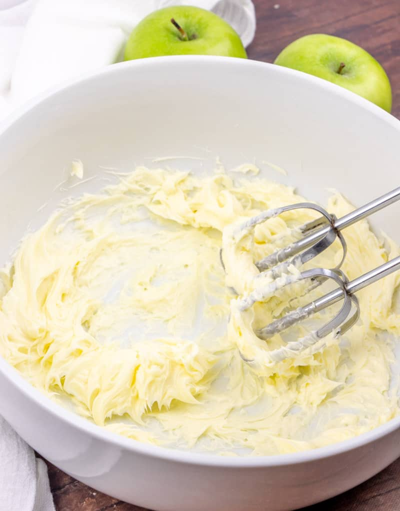 softened butter beaten with an electric mixer until smooth