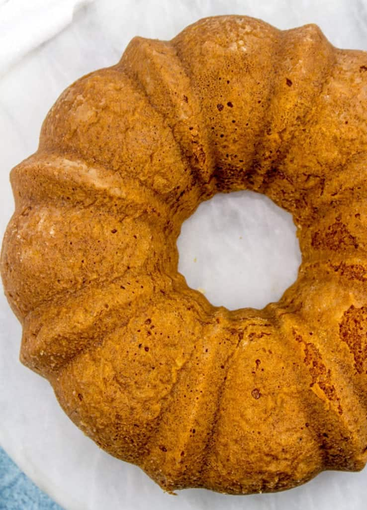 cooled lemon bundt cake