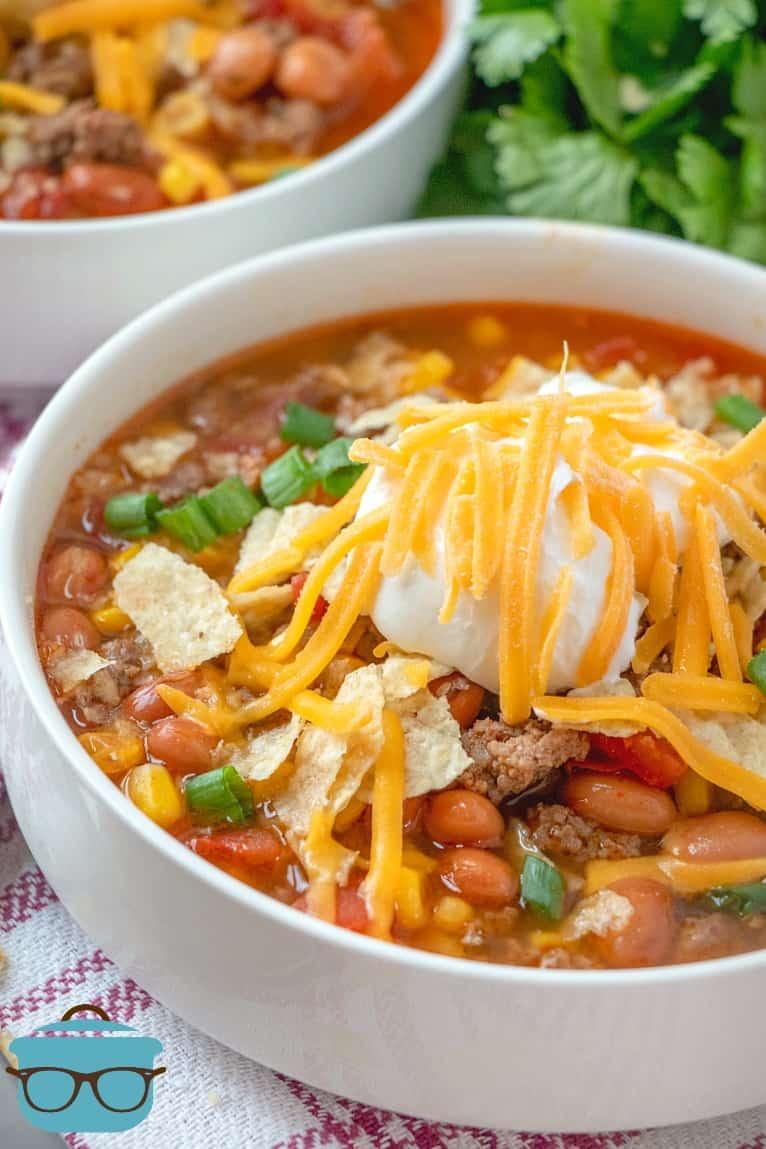 serving, Crock Pot Taco Soup