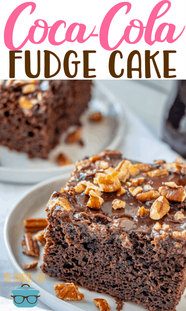 Coca Cola Double Fudge Cake recipe from The Country Cook #cakemix #chocolate
