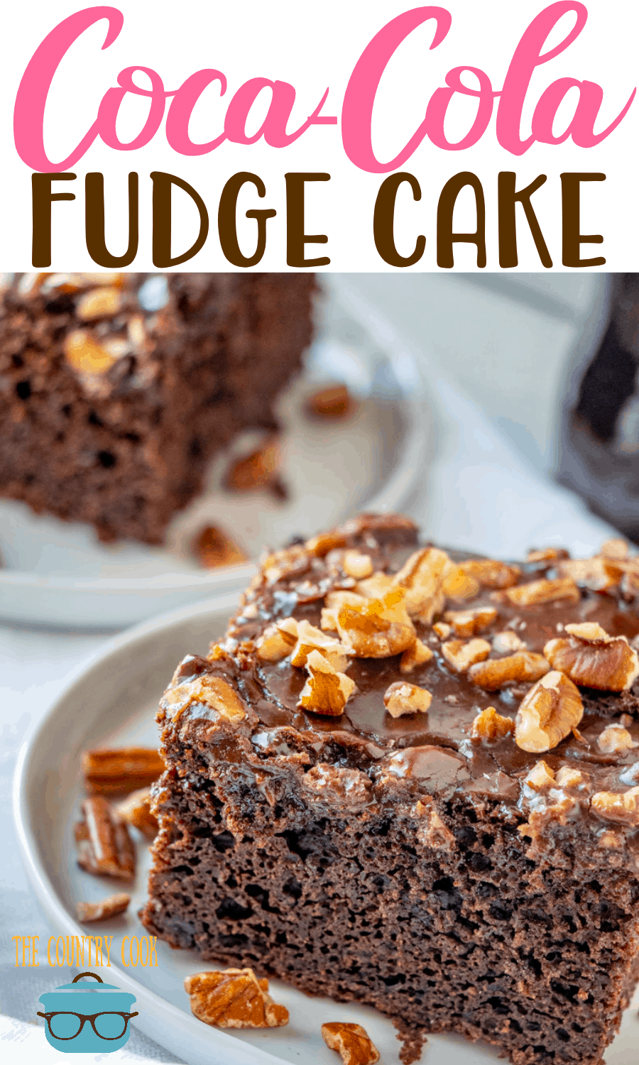 This Double Fudge Coca Cola Cake tastes even better than the one at Cracker Barrel and is easy to make since it starts with a boxed cake mix!