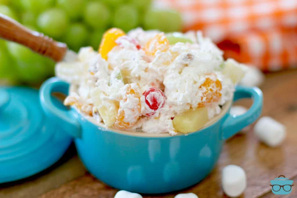 Creamy Ambrosia Fruit Salad with marshmallows