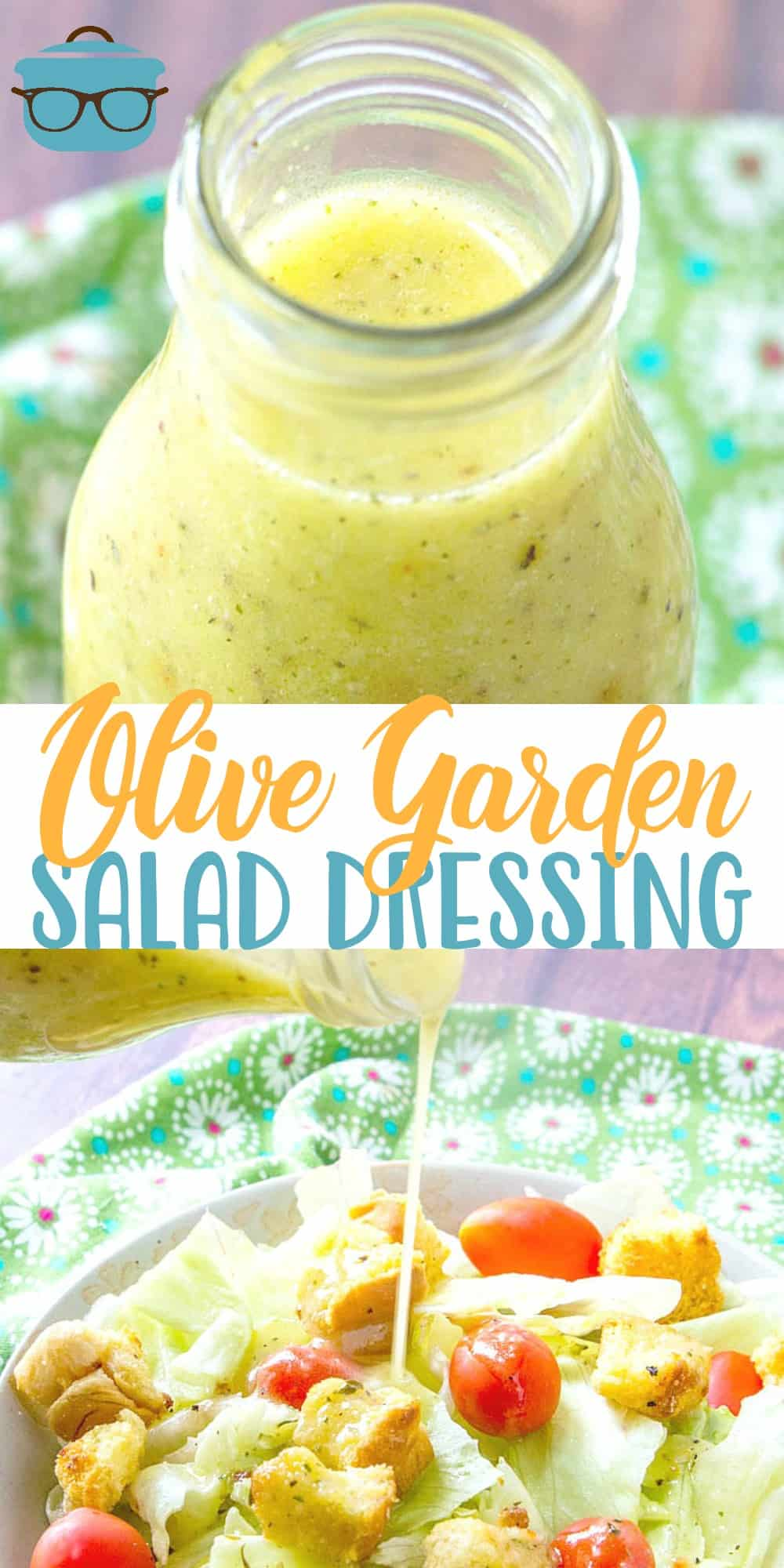 This homemade copycat Olive Garden Salad Dressing tastes even better than the original. It works great in pasta salads and as a marinade too! #saladdressing #olivegarden