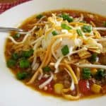 Crock Pot Taco Soup recipe from The Country Cook