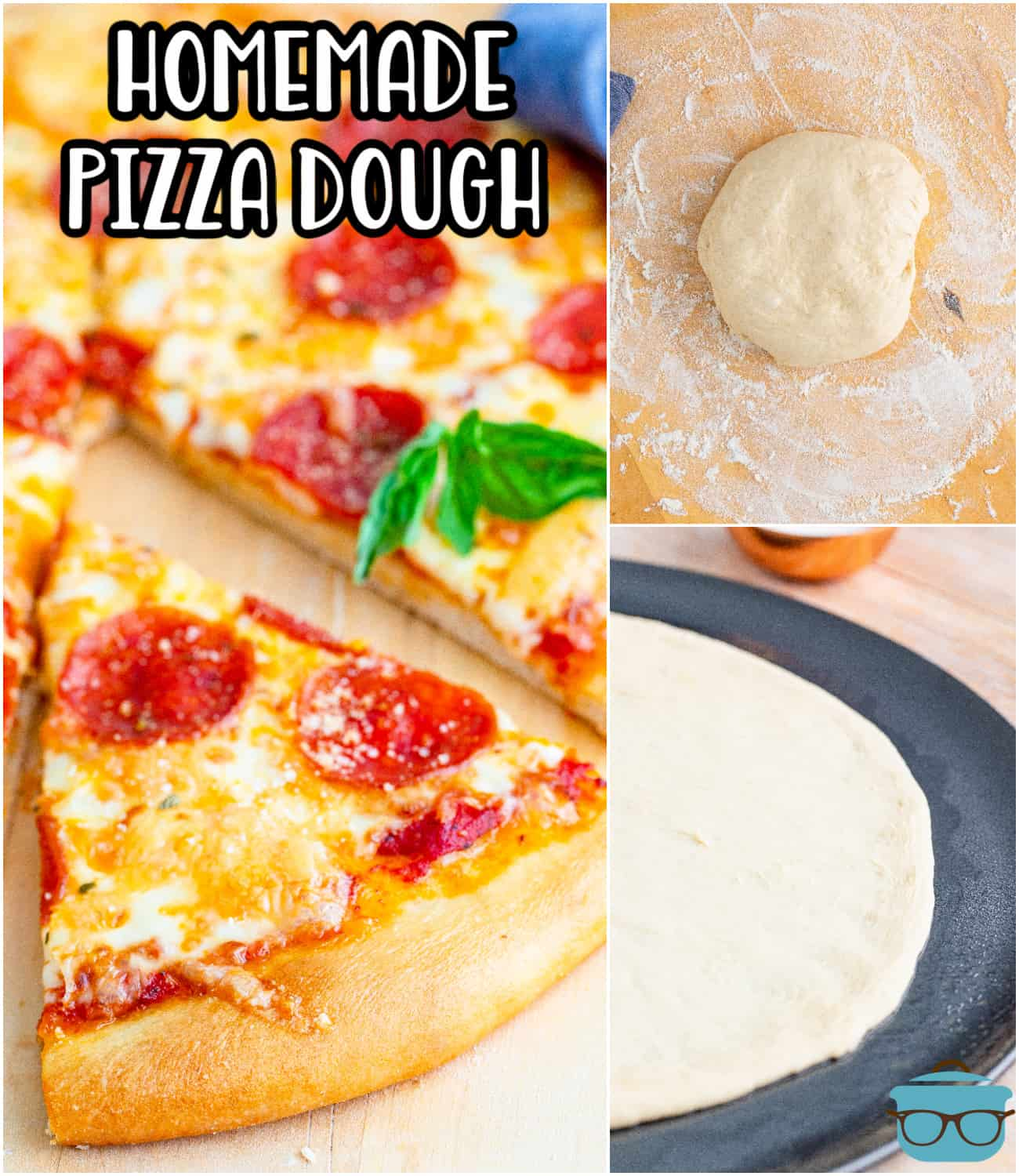 This from-scratch homemade pizza dough is the best part of the pizza. A tender, chewy pizza crust that holds up well to any topping!