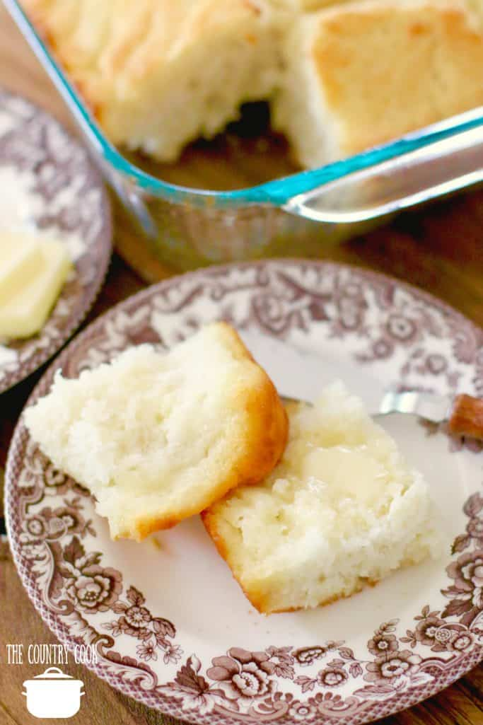 sliced buttermilk biscuit with melted butter