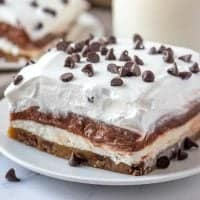 Cookie Monster Layered Dessert recipe from The Country Cook