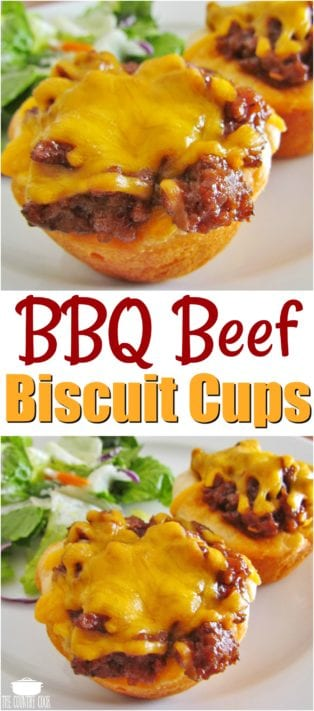Bbq Beef Biscuit Cups Recipe From The Country Cook Easy Recipes