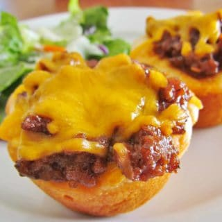 BBQ Ground Beef Biscuit Cups recipe