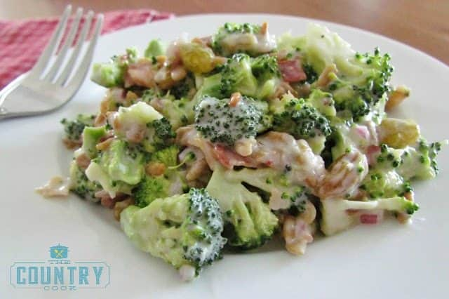 Broccoli Salad recipe from The Country Cook