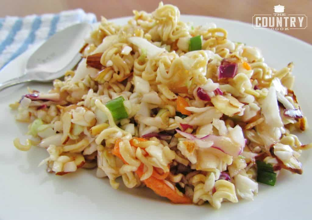 Crunchy Ramen Noodle Asian Slaw