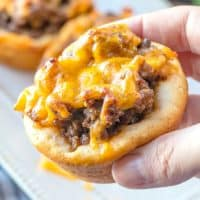 handheld, BBQ Beef Biscuit Cups, easy dinner recipe