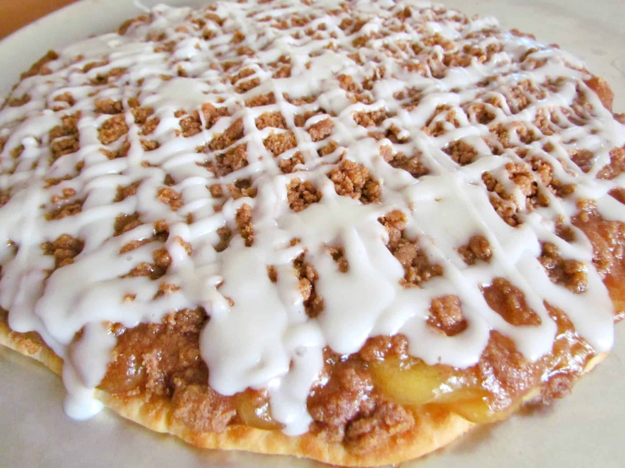 Pizza Hut Apple Pie >> Easy Apple Dessert Pizza