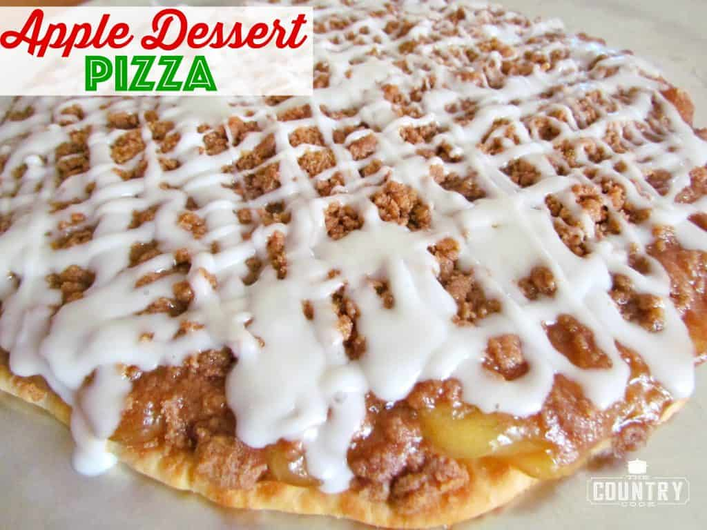Easy Apple Dessert Pizza recipe from The Country Cook