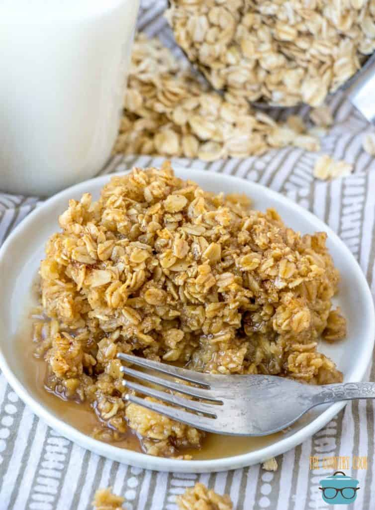 Maple Baked Oatmeal with syrup