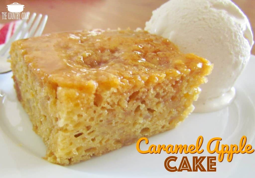 Cake Recipes Cooked In Microwave: Easy Caramel Apple Cake