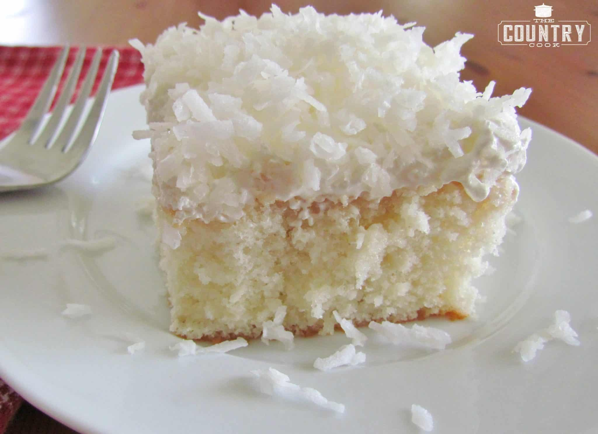 Coconut Cake Recipe Made With White Cake Mix