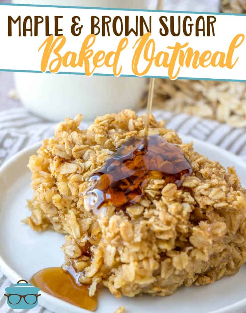 This easy Maple Brown Sugar Baked Oatmeal recipe is made with oats, brown sugar, maple extract and is the perfect breakfast or brunch!