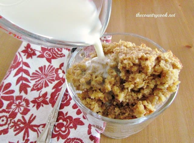 Maple & Brown Sugar Baked Oatmeal - The Country Cook