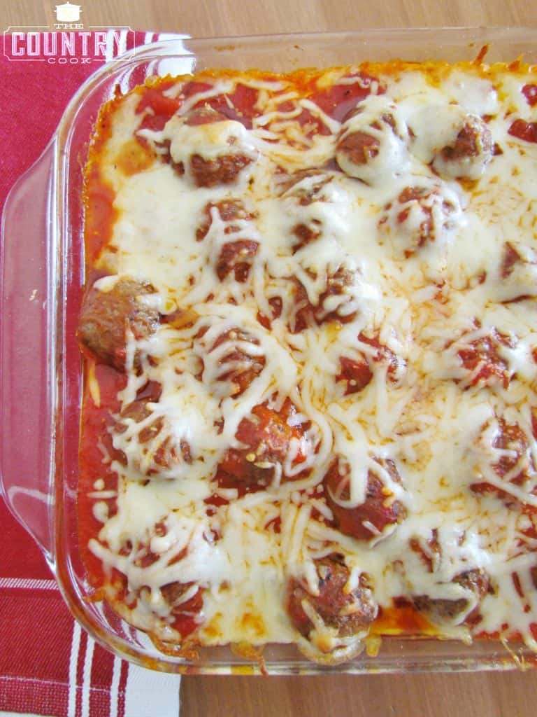 Meatball Sub Casserole recipe from The Country Cook