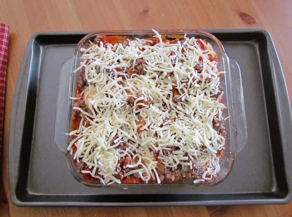 ravioli casserole with frozen ravioli