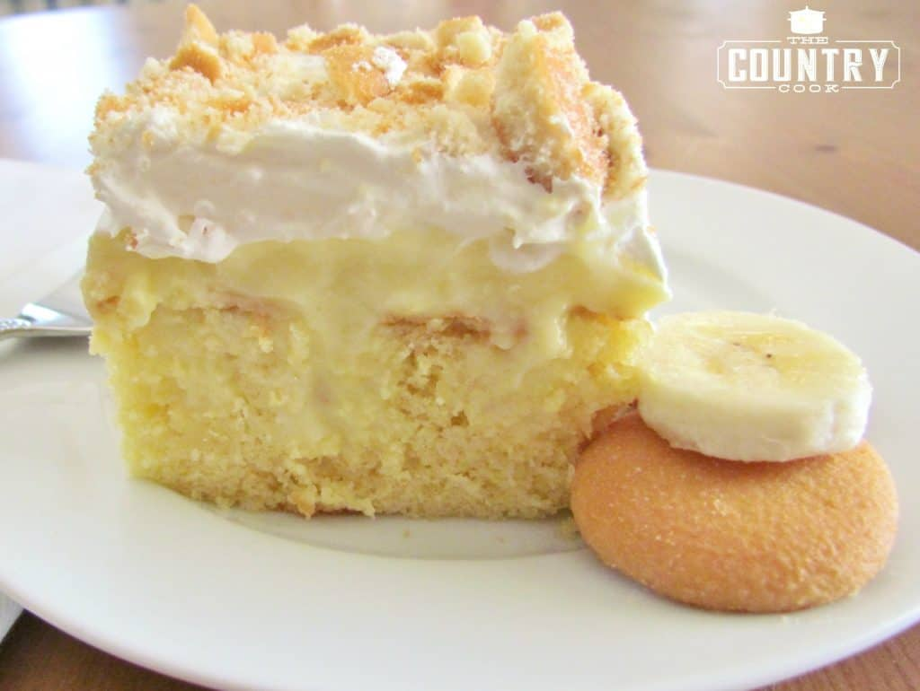Best Banana Pudding Poke Cake recipe from The Country Cook