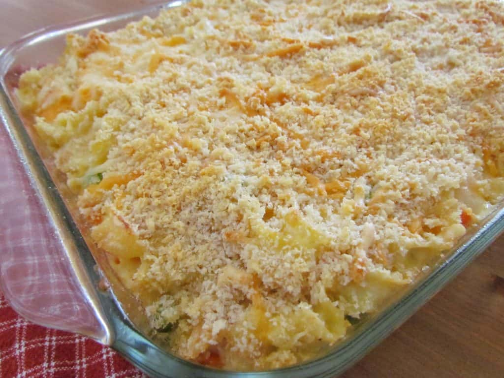 finished, Chicken Noodle Casserole
