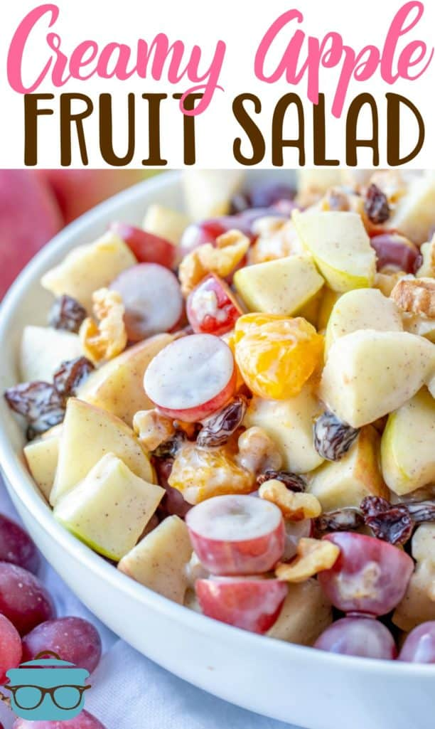 Creamy Cinnamon Apple Fruit Salad recipe from The Country Cook