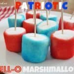Patriotic Jell-O Marshmallows