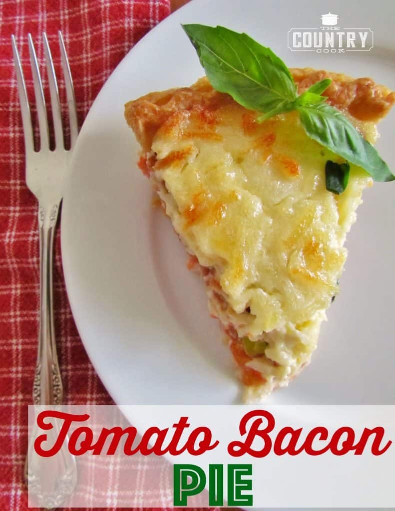 Country Tomato and Bacon Pie