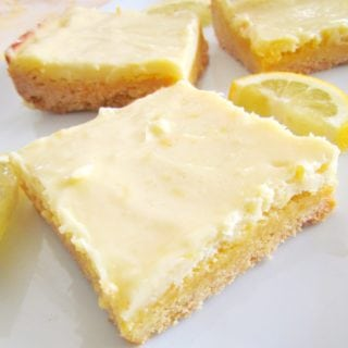 Creamy Lemon Bars recipe made with cake mix