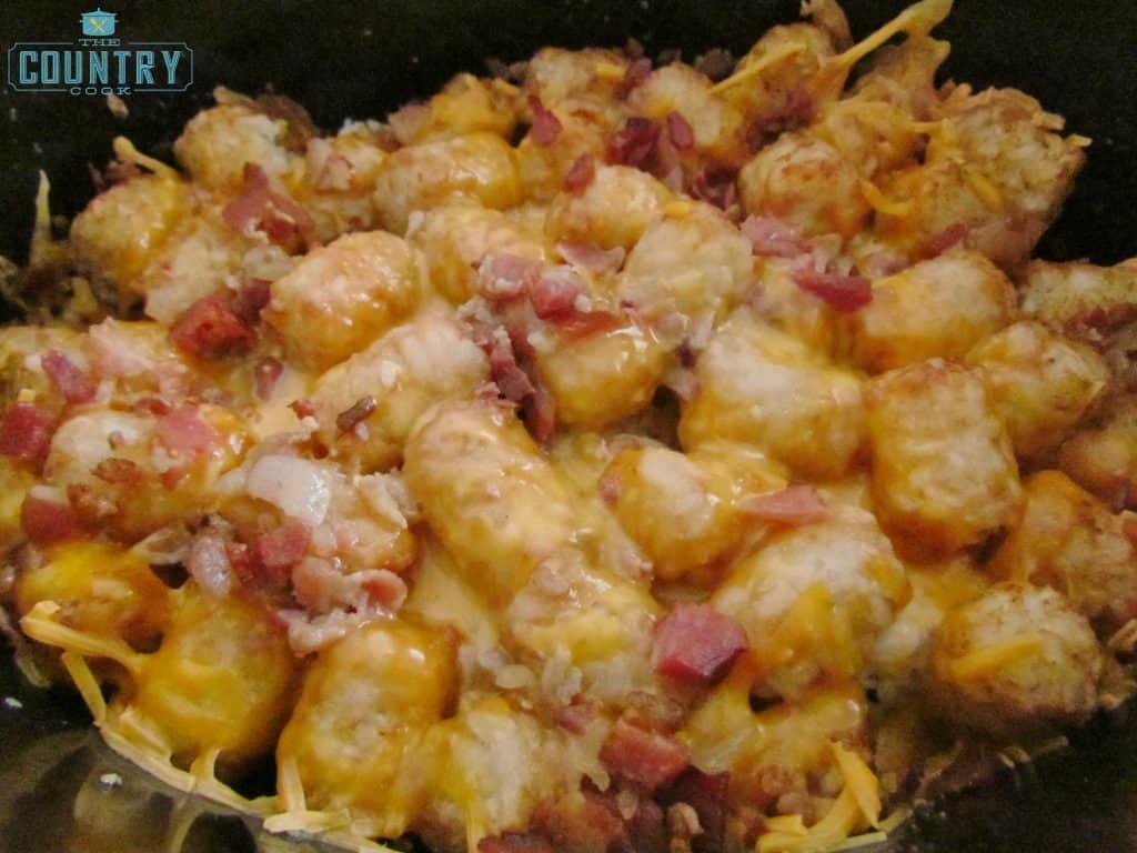Crock Pot Cheese Chicken Tater Tot Casserole