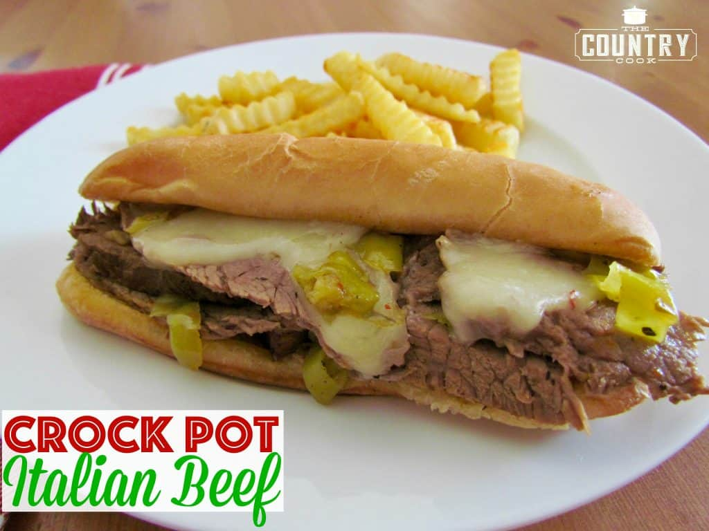 Crock Pot Italian Beef Sandwiches The Country Cook