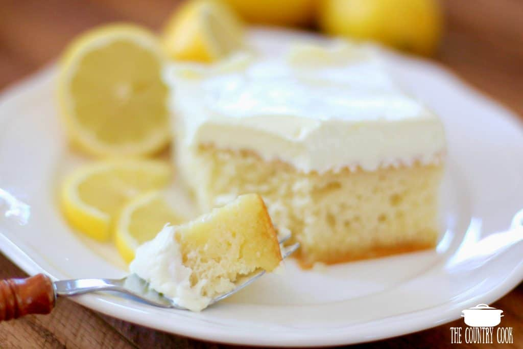 Lemon Dream Cake, slice
