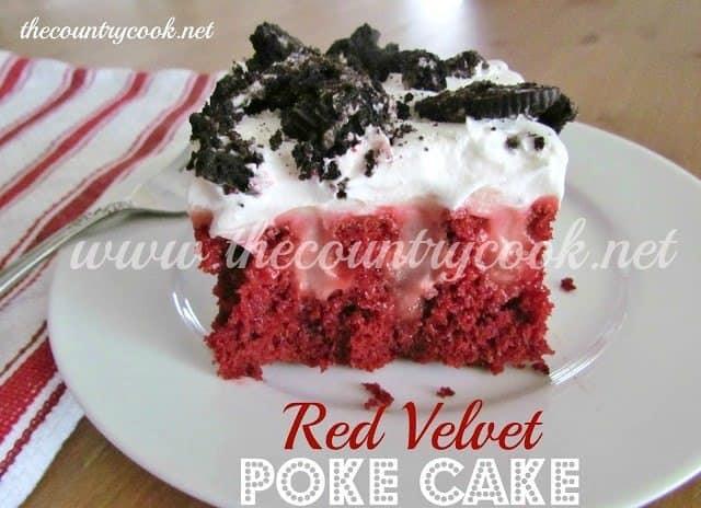 Red Velvet Poke Cake The Country Cook
